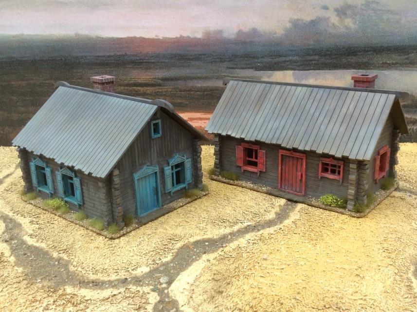 2 Log Cabins